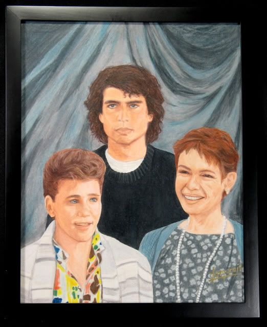 'I knew it Michael! You're a vampire! Oh you wait til mom finds out!' - The Lost Boys family portrait...