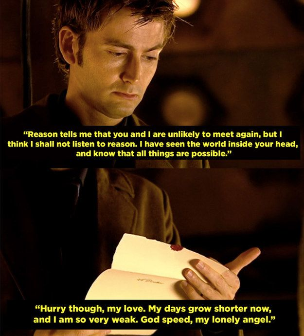 "When the Doctor told Reinette to pack a bag and join him, but she never made it into the TARDIS. | 25 Times ""Doctor Who"" Got Way, Way Too Real"