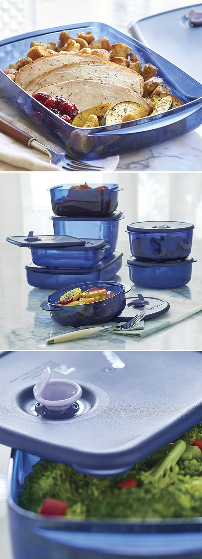 Vent 'N Serve Containers. Why cook twice when once will do? Plan for leftover-planovers! They're your smart solution to busy weeknight meals. The versatile Vent 'N Serve® Containers are fridge, freezer and microwave safe so they always fit with your dinner plans.
