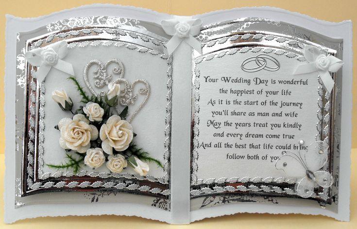 luxury bookatrix style handmade wedding card