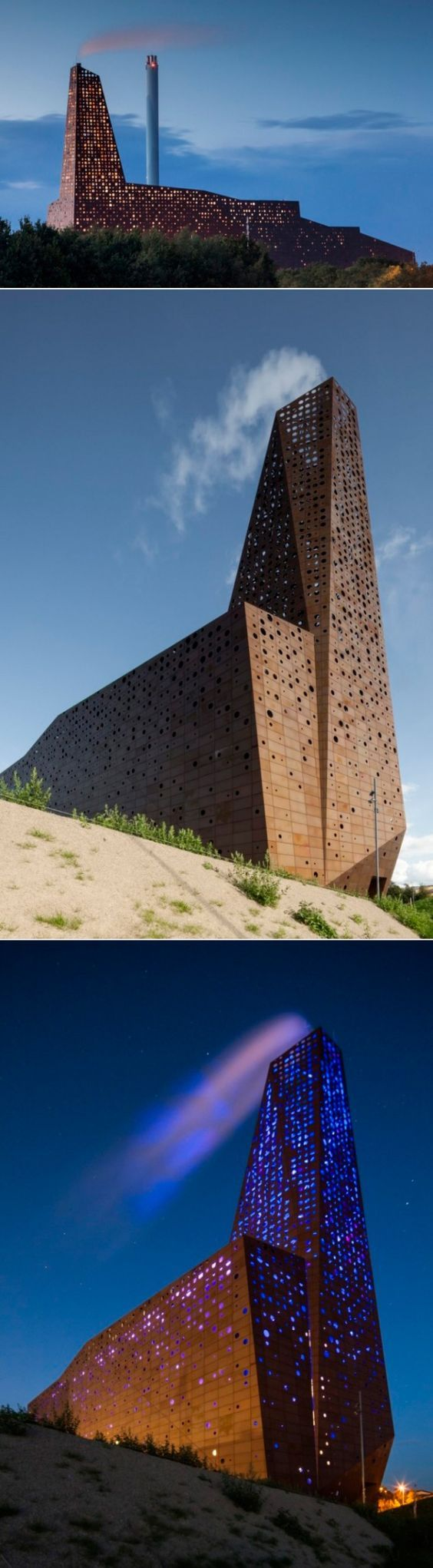 Amazing Incineration Tower (Roskilde, Danemark) by Erick van Egeraat #architecture: