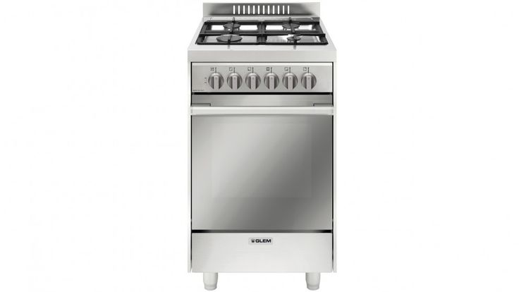 Glem 53cm Freestanding Dual Fuel Cooker - Stainless Steel - Freestanding Cookers - Appliances - Kitchen Appliances | Harvey Norman Australia