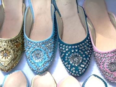 moroccan traditional shoes. way more comfortable than heels, and better for walking on grass too.