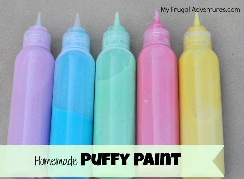 Easy Children's Craft: How to Make Puffy Paint