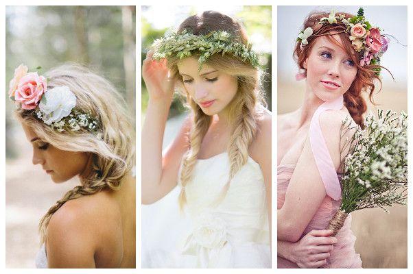 corona fiori matrimonio con treccia