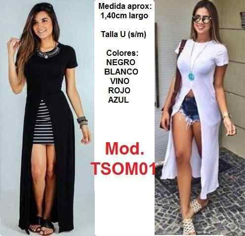 Blusones Largos Blusas Sobretodo Vestidos Jumpsuit Enterizos - Bs. 48.900,00