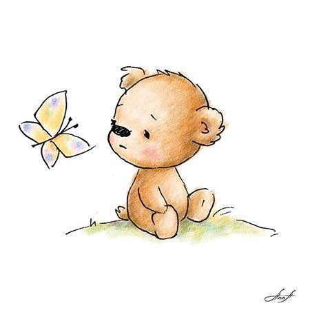 Cartoon teddy bear How to draw 16