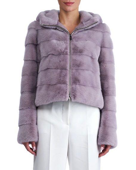 Leopard Mink Fur Cropped Jacket