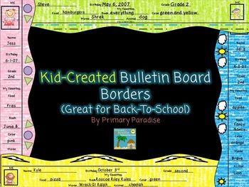 """These bulletin board border strips are a great way to create a unique & fun bulletin board that will stand out. Students will also be able to take ownership in whatever you choose to display on this board. I would recommend displaying student work. You can also create a wonderful """"All About Me"""" or """"Goals"""" bulletin board for the beginning of the year.  $"""