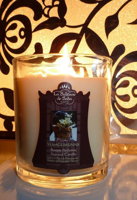 La Sultane de Saba Bougie Perfumée, Scented Candle Lotus and Frangipani flowers review/ Арома-свеча от Ля Султан де Саба, Лотус и франджипани обзор