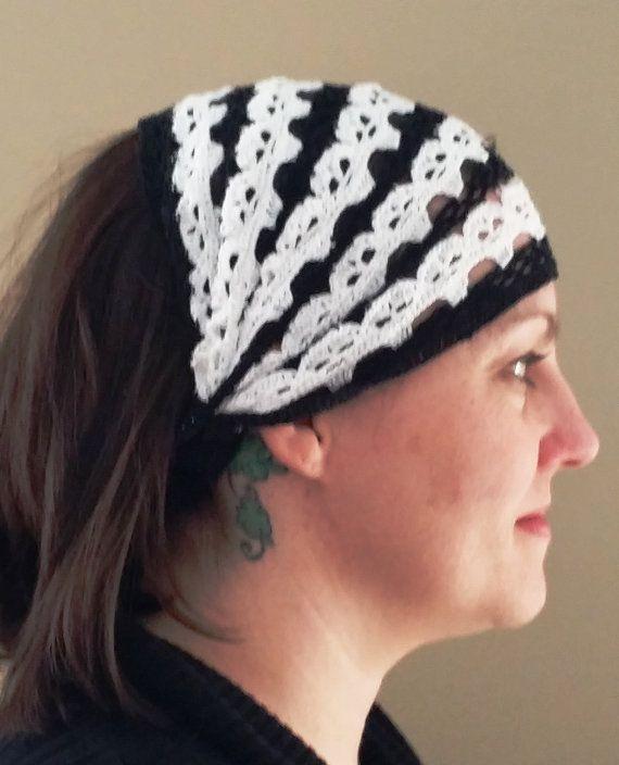 Skull Cap Motorcycle Bandana Crochet Pattern by creeksendinc