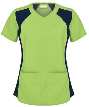 UA Butter-Soft Women's V-Neck Scrub Top with Knit Side insert style