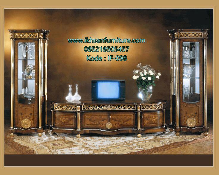 Desain Meja TV Luxury Clasic Mewah Terbaru Desain Meja TV Luxury Clasic Mewah…