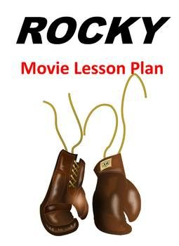 Rocky Movie Lesson Plan, Viewing Guide/Quiz/Test, and Essay Questions #lessonplan and #movieguide for #sylvesterstallone in #rocky to helps #students see the #movie through a #literary lens. Questions are from all levels of #bloomstaxonomy and with #essay questions. #teachersofinstagram #teachersfollowteachers #teacherspayteachers #movielessons #teachwithmovies #rockybalboa #languagearts #elateacher #englishteacher #filmstudies