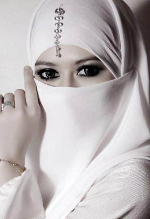 White Half Niqab Nikab Veil Burqa Hijab Face Cover Islamic Muslim Bride Wedding | eBay