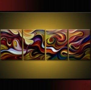 4 Pieces Large Modern Abstract Art Oil Painting Wall Deco Canvas Free Gift | eBay    WOW!!  I love this, love!!!
