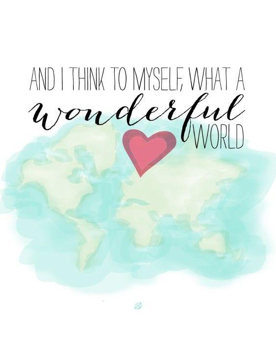 Wonderful World Free Printable