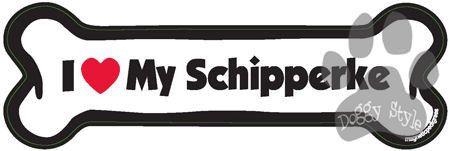 I Love My Schipperke Dog Bone Magnet http://doggystylegifts.com/products/i-love-my-schipperke-dog-bone-magnet