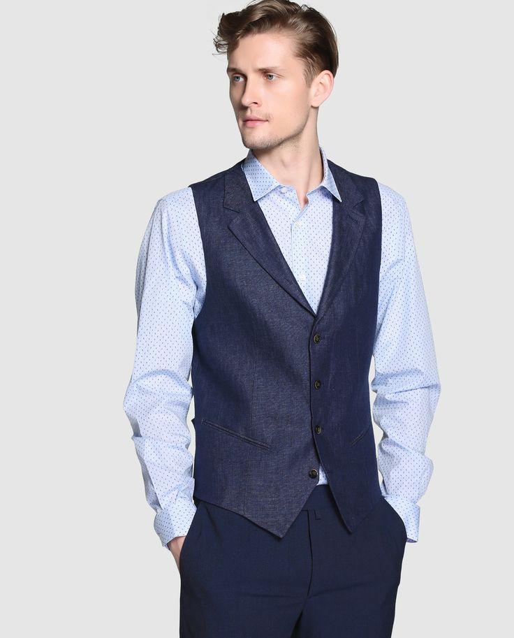 Chaleco de vestir de hombre Dustin azul · Dustin · Moda · El Corte Inglés