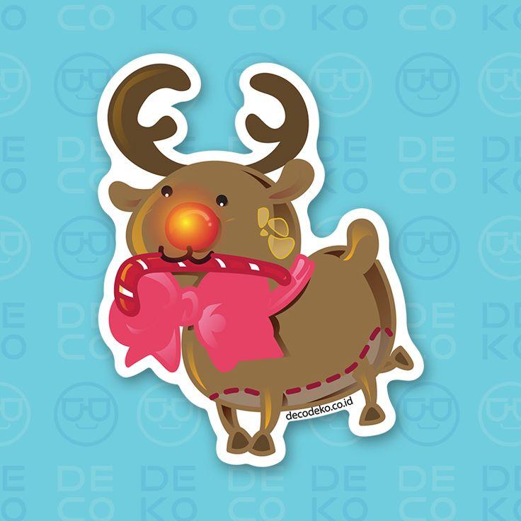 Sticker Rudolph the Reindeer
