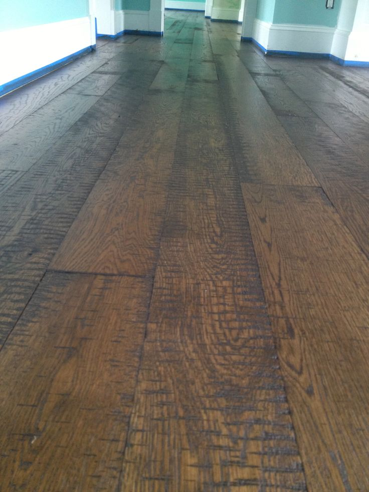 Skipsawn White Oak Dark walnut stain Eco Options Hardwood
