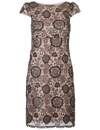 Luxe jurk met pailletten Oudroze