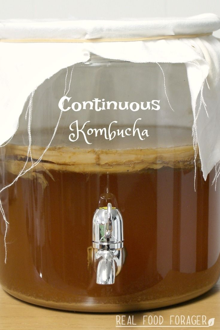 How to Make Continuous Kombucha. Grab the instructions for easiest way to make kombucha!