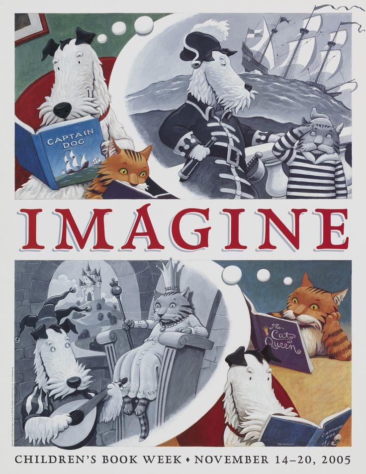 Official Children's Book Week poster, 2005, Mark Teague (B. 1963)