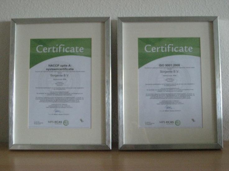 Sorgente is ISO en HACCP gecertificeerd