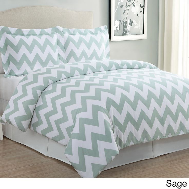 Chevron 3-piece Cotton Duvet Cover Set | Overstock.com Shopping - The Best Deals on Duvet Covers