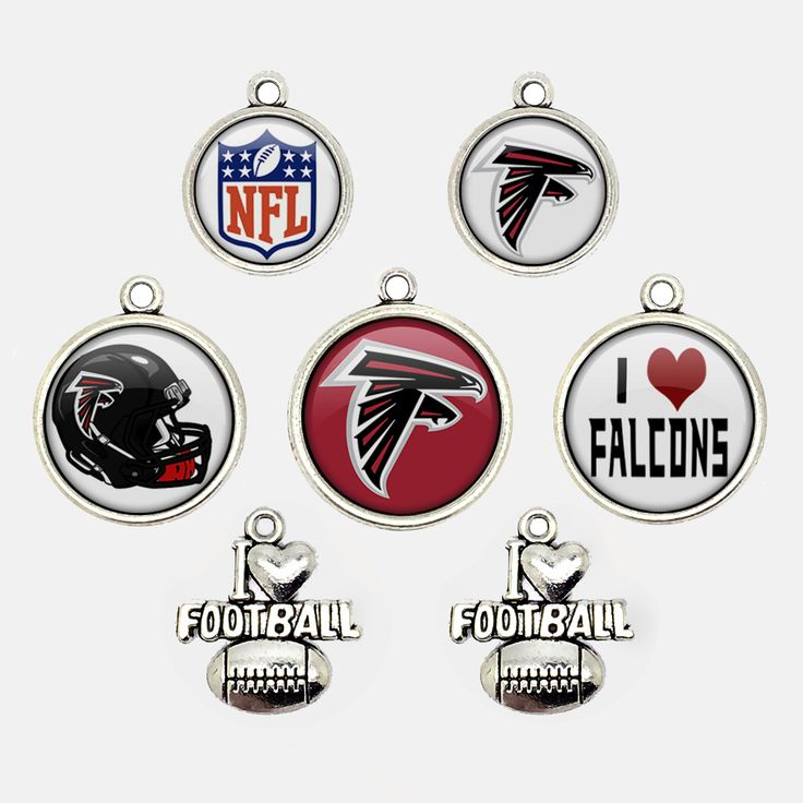 Mr.Eleven Atlanta Football Team Logo Charms 7PCS Jewelry Accessories Fan's Gift 2016 (FODZ-LY) by MrElevenHandcraft on Etsy