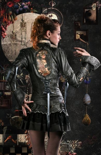 Steampunk jacket. I need to DIY my brown leather into something better.