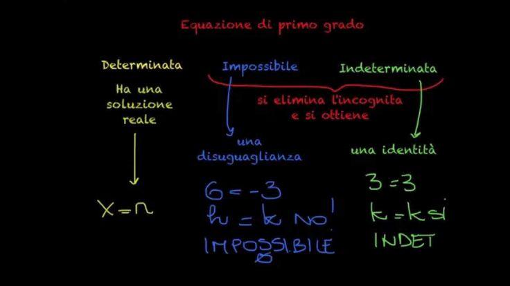 Equazioni di primo grado indeterminate e impossibili