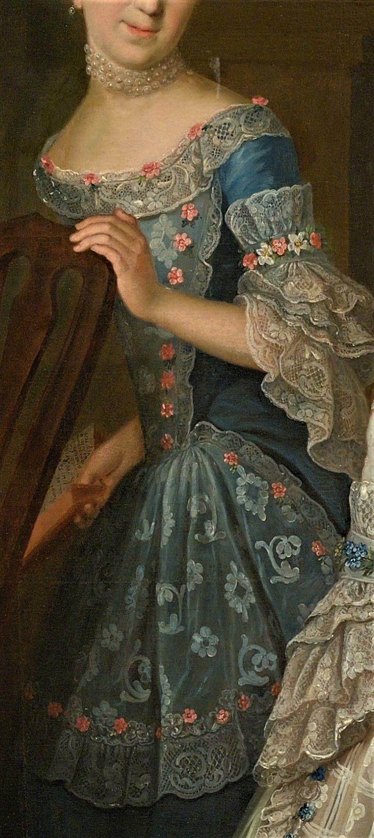 Portrait of Count Johann Casemir von Schlieben and his five Daughters by Johann Gottlieb Becker