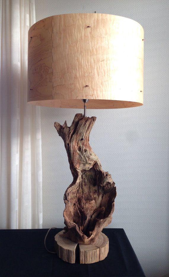 Unieke Tafellamp vervaardig van verweerd oud door GBHNatureArt