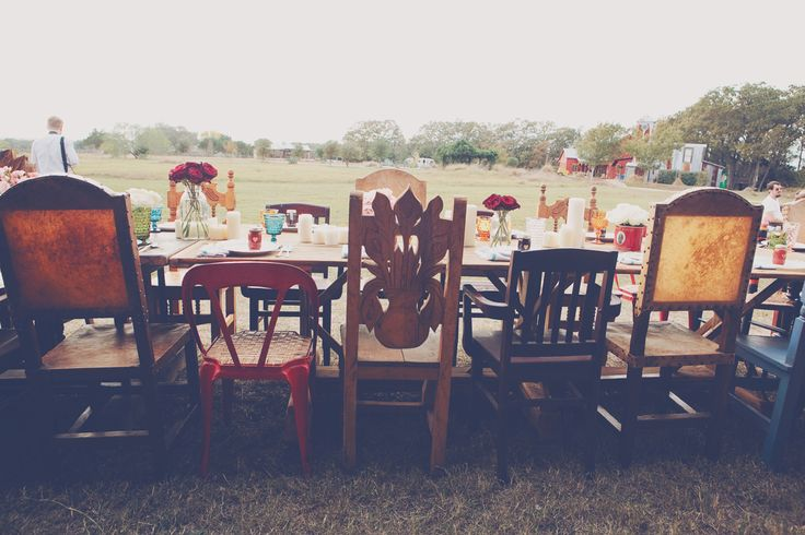 Pretty mismatched chairs at a beautifully unconventional wedding