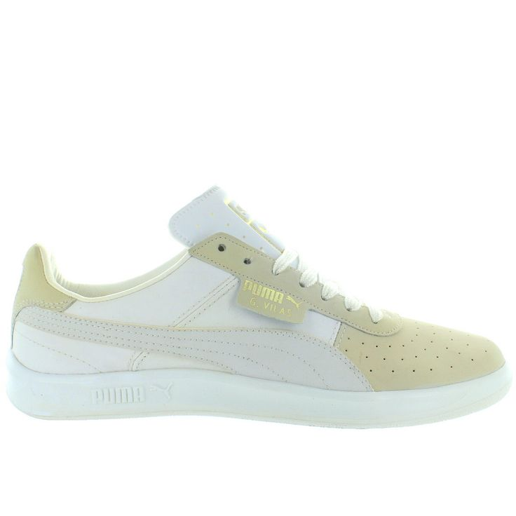 Puma G. Vilas - White/Metallic Gold Lace Low-Top Sneaker