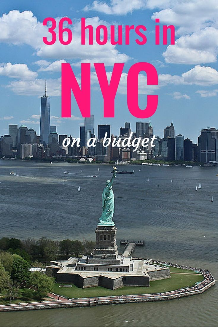 The best tips for spending 36 hours in New York City on the cheap! NYC can be an expensive place, but not if you use this itinerary!