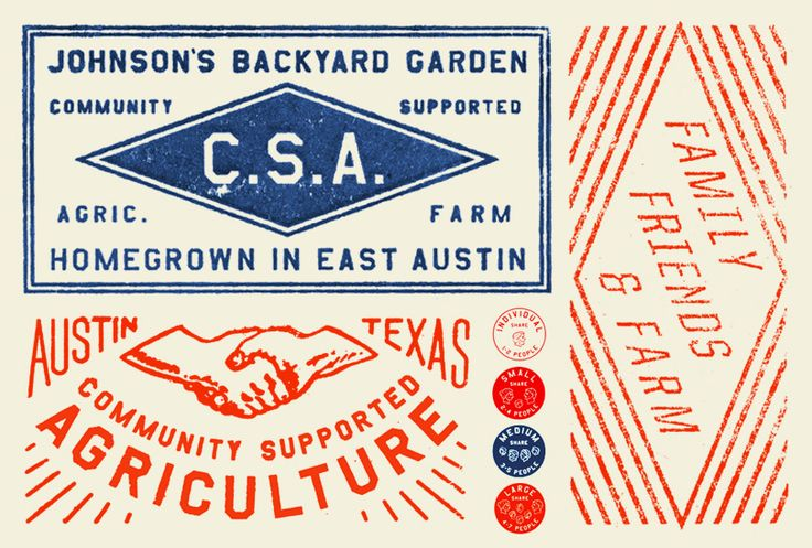The weathered, vintage typography of LAND is as old as new