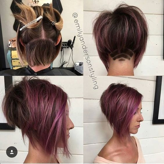 Stacked, Short Edgy Haircut - Ombre Short Hair Styles