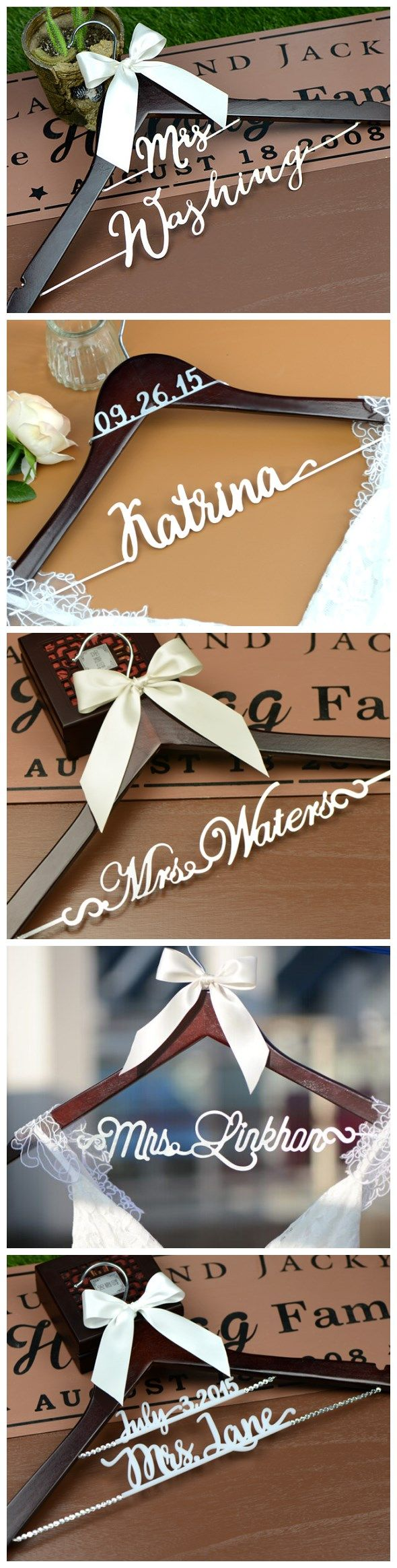 a personalized wedding hanger is a great choice for wedding shower gift