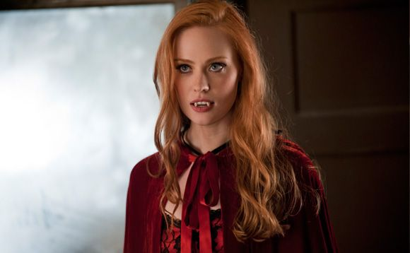 Deborah Ann Woll as Vampire Jessica. Link to interview with Rolling Stone magazine.