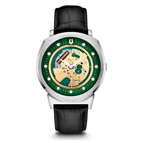 Reloj Bulova Pantalla luz Cuero negro Modelo 96A155