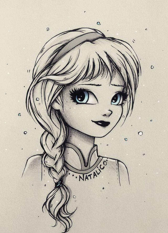 Милашки рисунки карандашом девочка