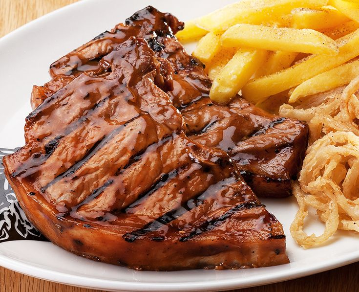 Pork Chops: Spur-basted grilled pork chops. Read more: https://www.spur.co.za/menu/ribs-and-grills/