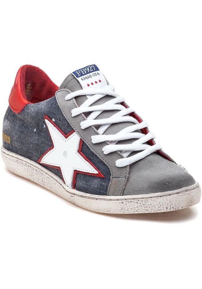 Sneaker Denim Leather Sneakers Shoe