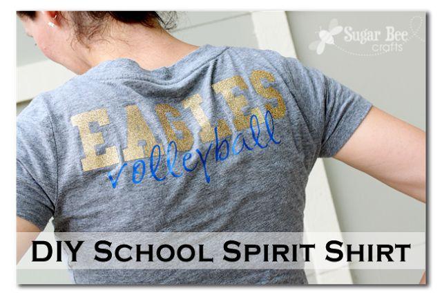 65 best vinyl transfers images on pinterest craft ideas for Diy school spirit shirt