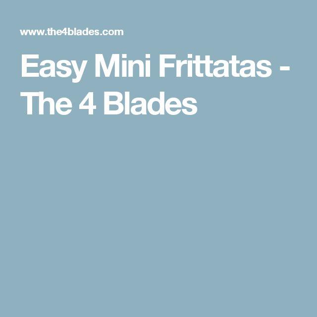 Easy Mini Frittatas - The 4 Blades