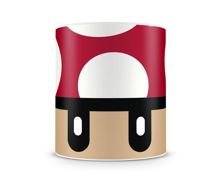 Caneca Cogumelo do desenho e também jogo de video game Mario o encanador mais famoso de todos os tempos.