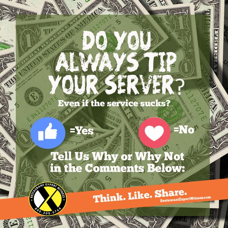 Do you always tip your server (even if the service sucks)? Head over to Howard Cannon's Facebook page to join in on this Restaurant Expert Witness debate.
